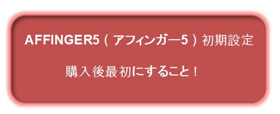 AFFINGER5(アフィンガー5)初期設定!購入後最初にすること!