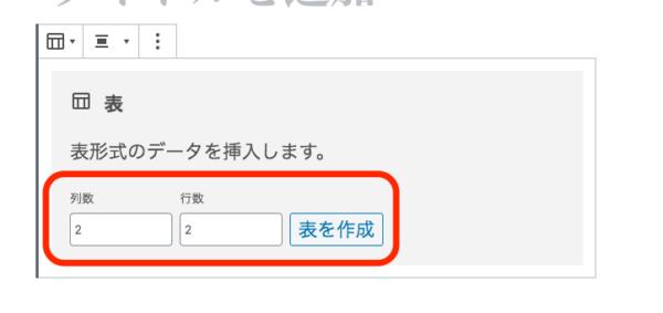 次に項目の中からフォーマットを選択すると「表」と左上に記載がありますのでクリックして選択してください。